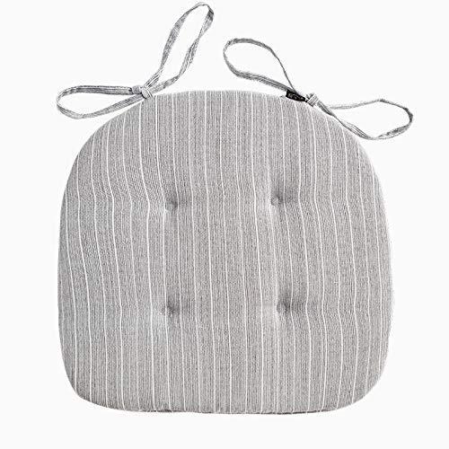 SHBV Cojines para Asiento de Silla Cojines con Lazos Diseño Acolchado en Forma de D Esponja para Silla Cojines para Asiento de Coche Almohadilla para Respaldo de Asiento de Coche para jardín, Pat