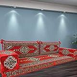Spirit of 76 - Juego de sofá de estilo beduino turco, árabe marroquí, estilo majlis y muebles bohemios para banco, cojines / SHI_FS299