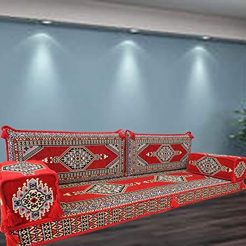 Spirit of 76 SHI_FS299 - Juego de sofá de suelo de estilo beduino árabe turco y marroquí para muebles bohemios