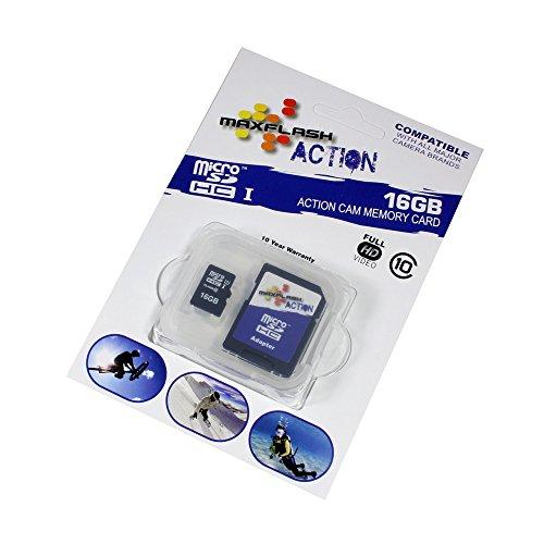 P4A 16GB microSD Speicherkarte für Easypix W1024, Class 10, unterstützt Ultra HD, Schnelle Schreib- und Lesegeschwindigkeit