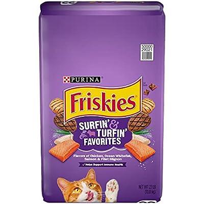 Friskies Dry Cat Food, Surfin' & Turfin' Favorites, 22 Lb Bag