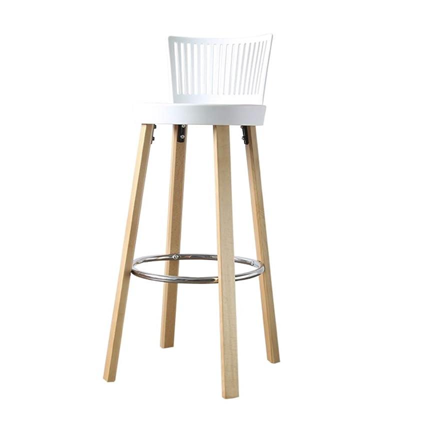 追記ネイティブ子供達LIQICAI カウンターチェアバースツール ダイニングスツール PPの座席そしてあと振れ止めを使って、 キッチンダイニングバーチェア 木製の足 カウンターハイトスツール、 3色 (Color : White, Size : 41x97cm)