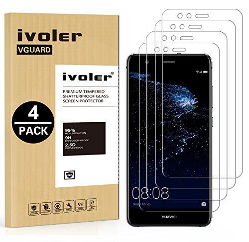 ivoler [4 Unidades] Protector de Pantalla para Huawei P10 Lite, Cristal Vidrio...