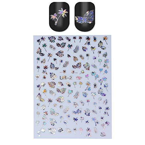 JSZWGC 1 Feuille Nail Sticker Or Argent Stripe Lignes 3D Métal Bande Ruban Multi-Taille Ongles adhésif décoration Autocollant Bricolage Nail Stickers (Color : Pattren 4)