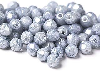 8b91e16d6d8e2 Amazon.com: czech fire glass blue beads