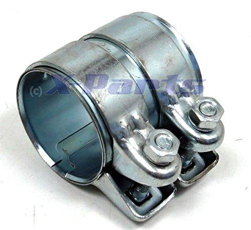 63,5mm Stahl Rohrverbinder Doppelschelle V2A Auspuff 2,5