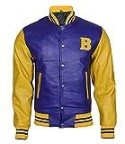 UGFashions Teen Scott McCall B Logo Varsity Letterman Bomber Wolf Leather Jacket