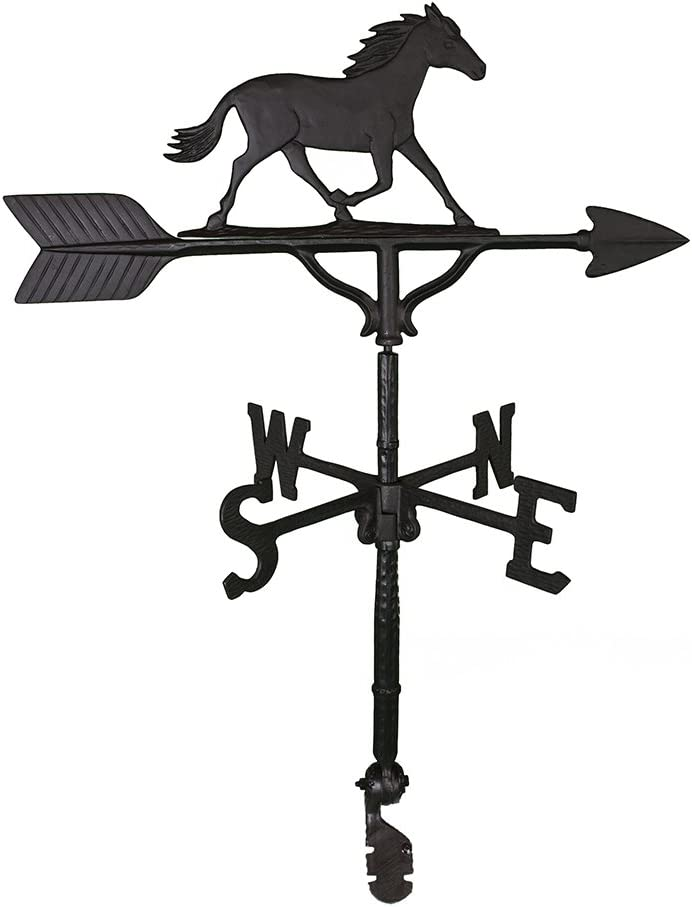Montague Metal Products 32-Inch Weathervane Black Luxury Hor trust with Satin