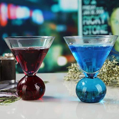 Vidrio Jugo De Color Pequeño Copa Martini Copa De Cristal Copa De Vino Tinto Copa De Champán Transparente, Azul