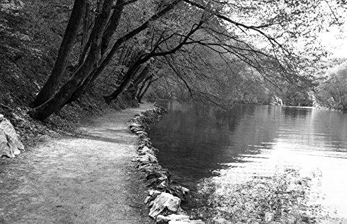 Bilderdepot24 Fotomural La Orilla - Blanco y Negro 230x150 cm - Directamente Desde el Fabricante