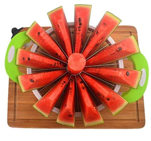 SD&EY Affettatrice di Anguria, Affettatrice Grande in Acciaio Inossidabile Coltello per Anguria E Affettatrice di Frutta Taglierina più Veloce per Meloni, Anguria