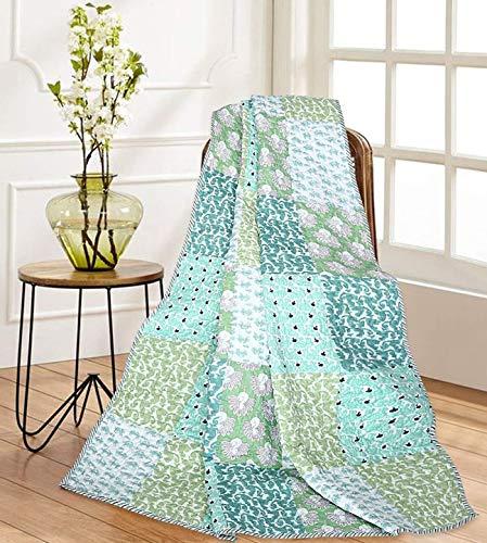 RAJRANG BRINGING RAJASTHAN naar u bank gooit - 100% katoen zachte gooit Indian Vintage Quilts traditionele en spreien voor stoelen Multi kleur -152x127 cm