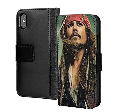 Capitán Piratas Del Caribeño Jack Cartera De Cuero De La PU En La Tarjeta Del Teléfono Cubierta Para El Iphone SE 2020