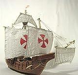 SIourso Maquetas De Barcos Kits De Construcción Escala 1/50 Kits De Modelo De Velero Clásico De España Flota De Colón Santa Maria 1492 Modelo De Barco