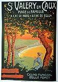 Saint Valery Poster Normandie, Format 50 x 70 cm, Papier