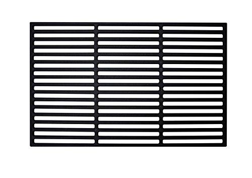 LARS360 Rechteck Gusseisen Grillrost Grillgitter Gussrost Roste, Grillplatten für Gasgrill und Holzkohlegrill, Massiv und Emailliert, Größen (28 x 42 cm)