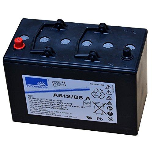 EXIDE A512/85A Sonnenschein AGM 12V Batería 85AH bloque de lana de la...