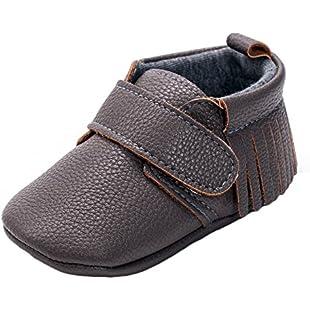 Matt Keely Baby Tassel Shoes Infant Newborn Soft PU Sneakers Prewalker Coffee 6-12 Months:Autobit
