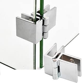 2 Pieces 90degree Glass Door Hinge Copper Glass clamp Fixture Cabinet Showcase Cabinet Door Hinge 5-8mm Glass