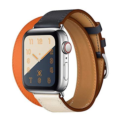 Correa para Apple Watch Band 44 Mm 40Mm Bucle De Cuero para Iwatch Band 42Mm 38Mm Double Tour Pulsera Correa para Apple Watch 5 4 3 6, China, 5