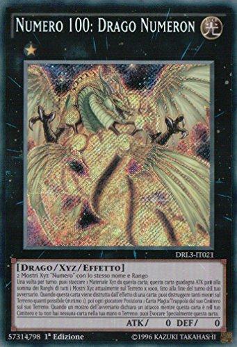 Yu Gi Oh! Numero 100: Drago NUMERON DRL3-IT021 Rara SEGRETA Italiano
