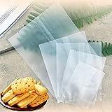 Kslogin - Lijadora bolsas de dessellado para galletas, bolsas de plástico alimentario con flor de té, paquete de 100 unidades