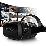 3D VR Gafas 3D VR Casco Realidad Virtual Ajustable 3D y Juegos de Vídeo Compatible con iPhone 7/6S/6 Plus/6/5S/5 C/5 Samsung...