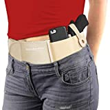 ComfortTac Ultimate Belly Band Holster for Concealed Carry | Fits Smith and Wesson Bodyguard, Shield, Glock 19, 17, 42, 43, P238, Ruger LCP, and Similar Sized Guns | for Men and Women (Nude - L - L)