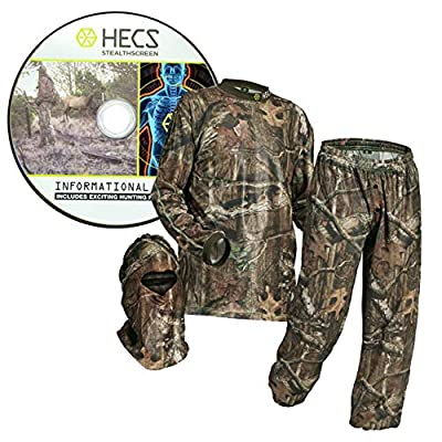 HECS Hunting 3-Piece Camo Suit - Hunting Apparel for Men - Mossy Oak Break-Up Country Camo - X-Large
