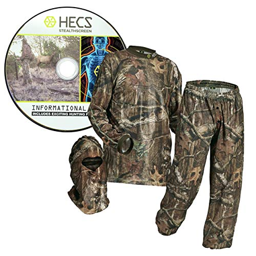 HECS Hunting 3-Piece Camo Suit - Hunting Apparel for Men