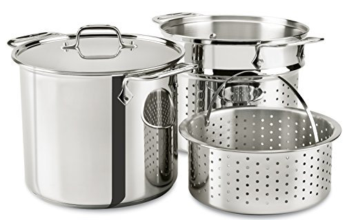 All-Clad E9078064 Stainless Steel Multicooker with...
