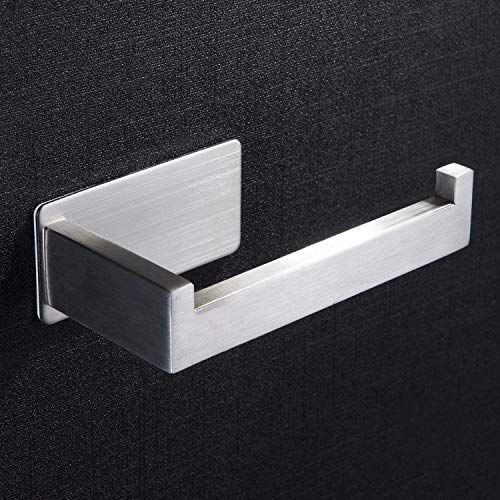 Self Adhesive Toilet Roll Holder - Stainless Steel Toilet Paper Holder for Bathroom no Drilling Brushed by ZUNTO