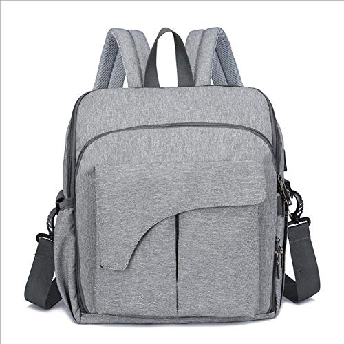 Fusmaker multifunctionele rugzak luiertas babyrugzak, kan worden opgeladen en gebruikt als kinderzitje, beste tassen voor meisje of jongen, moeder of vader (grote capaciteit, grijs)