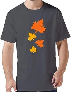 ZYXcustom DIY Autumn Leaves T-Shirt for Men