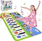 NEWSTYLE Musical Toys, Piano Mat Large Piano Keyboard Dancing Mat Baby Musical Game Carpet Mat Baby Activity Gym Floor Playmat Musical Instruments Touch Play Keyboard Toys for Girls Boys-135x59cm