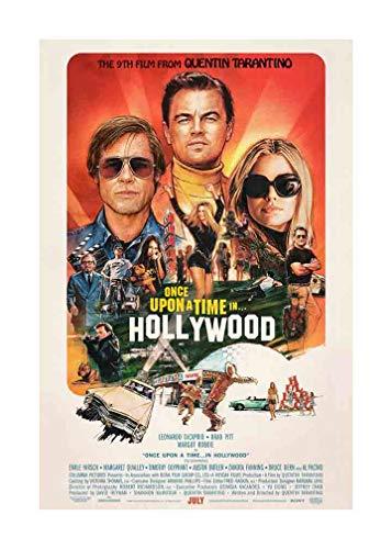 Filmposter Once Upon A Time in Hollywood, 61 x 91,4 cm, zertifizierter Kunstdruck mit holographischer fortlaufender Nummerierung für Authentizität.