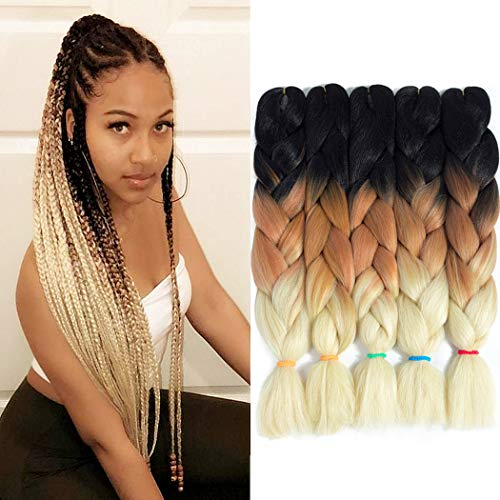 Jumbo Braiding Hair Crochet Braids 5Pcs Jumbo Box Braid Twsit Hair...