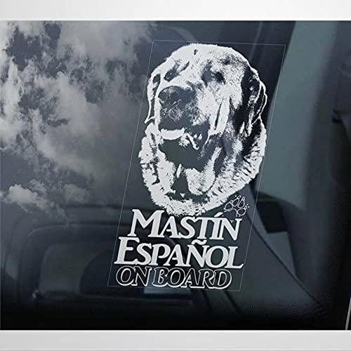Mastin Inglés a bordo Pegatinas para ventana de coche Mastin Espanol Mastín Español Mastín Mastín Perro Calcomanía de vinilo troquelado Pegatinas divertidas pegatinas de parachoques
