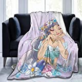 Princesses Jasmine All Season Blankets,Ultra Soft Flannel Throw Blanke for Bed/Couch/Sofa/Office/Camping