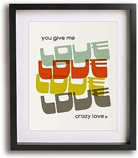 Crazy Love by Van Morrison inspired song lyric art print