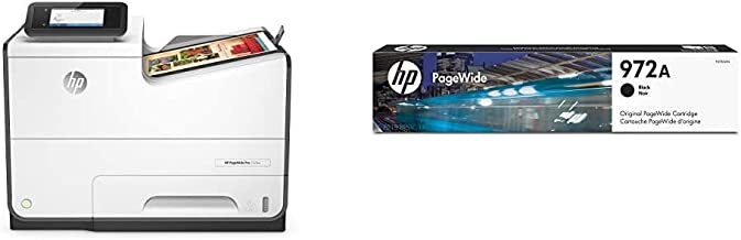 HP PageWide Pro 552DW Color Business Printer, Wireless & 2-Sided Duplex Printing (D3Q17A) with Standard Yield Black Ink Ca...