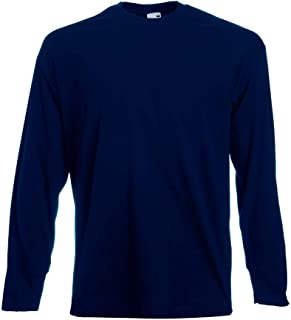 Fruit of the Loom - Langarmshirt Valueweight Longsleeve T / Deep Navy, XL