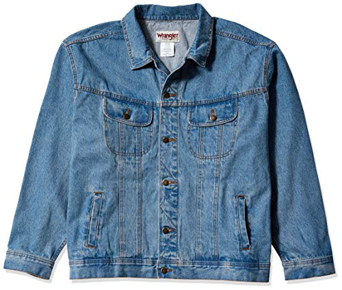 Wrangler Men's Rugged Wear Unlined Denim Jacket, Vintage Indigo, 3X