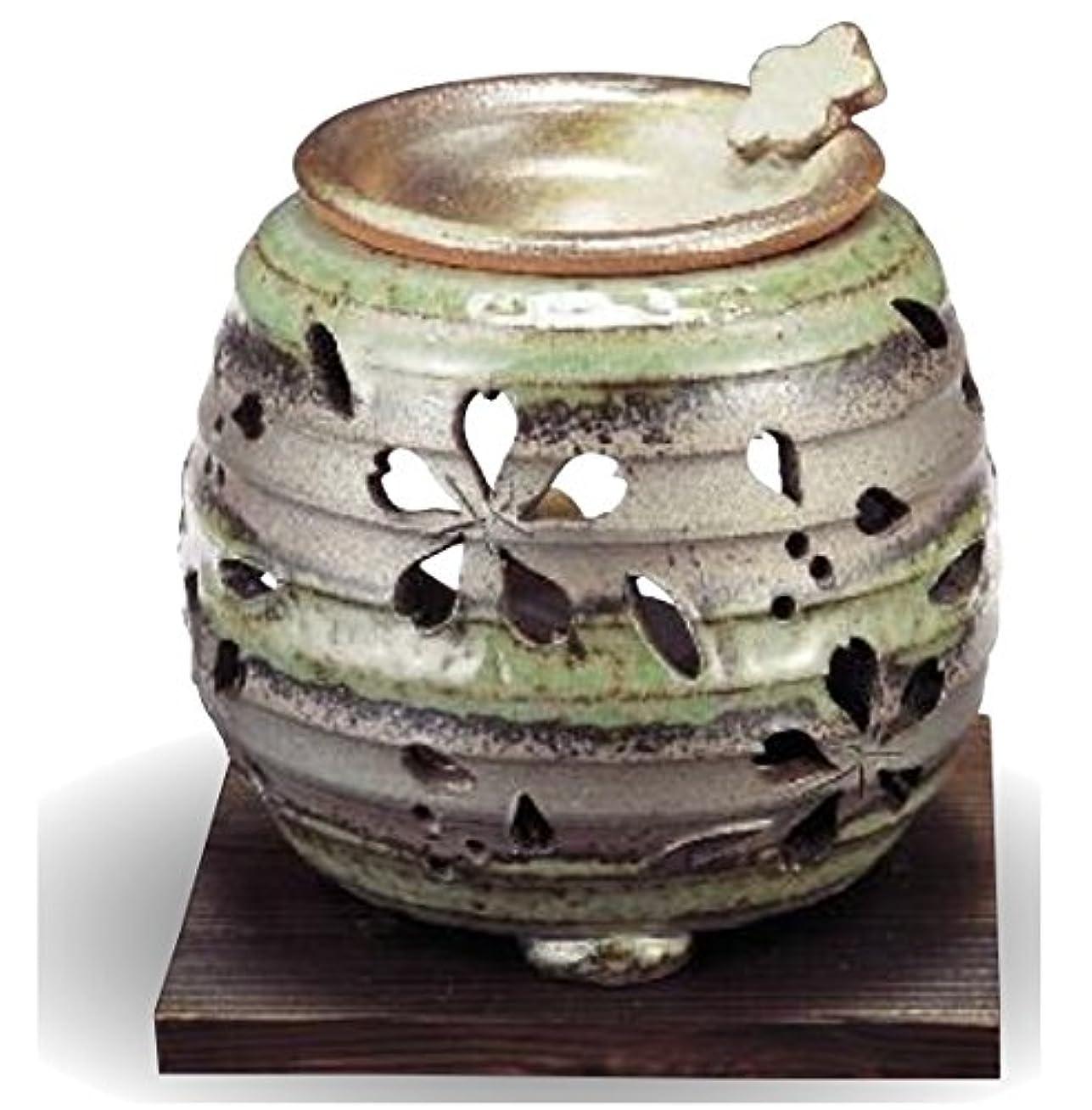 脱臼する国籍腫瘍常滑焼 茶香炉(アロマポット)径10×高さ9cm