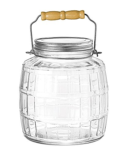 1-Gallon Barrel Jar with Brushed Aluminum Lid