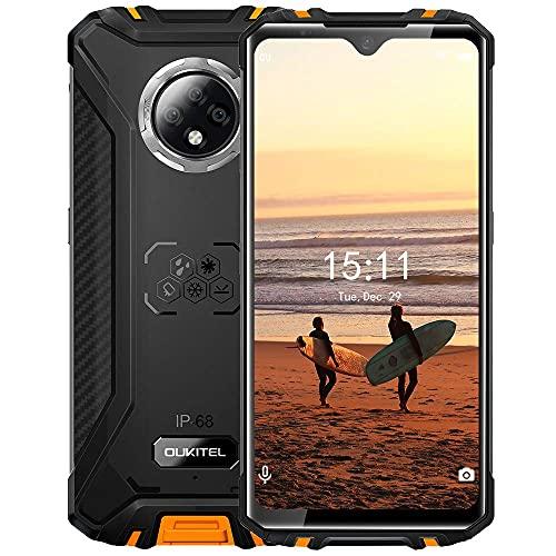 OUKITEL-WP8-Pro - Teléfono inteligente con batería de 3 días, pantalla de 6.49 pulgadas, 4 GB, 64 GB, doble SIM IP68, resistente al agua, teléfonos celulares desbloqueados con triple cámara, 16 MP, GPS NFC, versión estadounidense (amarillo)