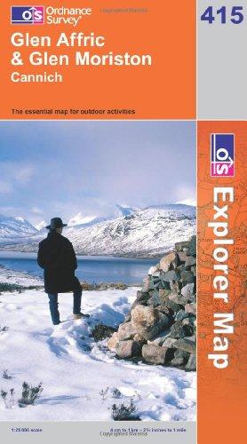 OS Explorer map 415 : Glen Affric & Glen Moriston