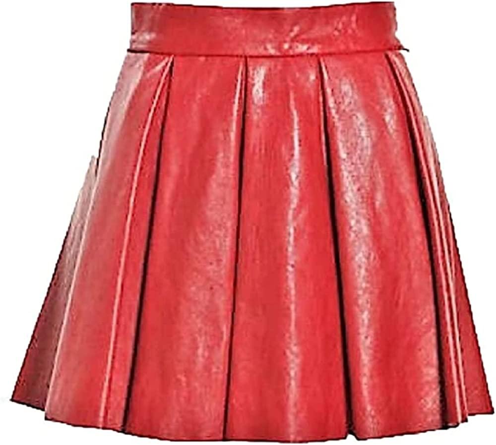 Azrah Traders Leather Short Skirt for Women - Regular Use Slim Skirt