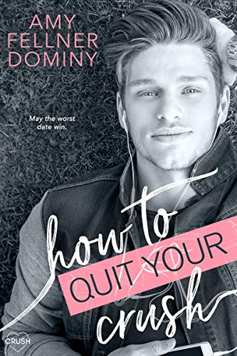 book cover how to quit your crush hot blonde boy laying on grass