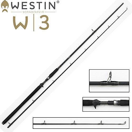 Westin W3 Powershad-T 248cm XXXH 60-180g, Spinnrute mit Triggergriff für Multirolle, Angelrute für Hecht, Zander & Waller, Rute für Wobbler, Gummifische & Jerkbaits